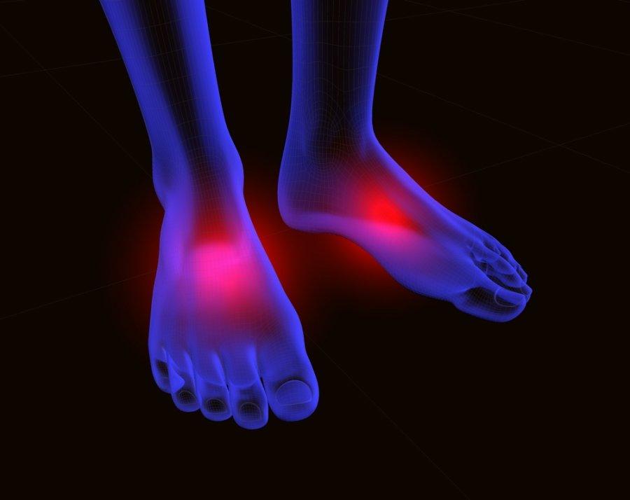 palaikykite pėdos pirštų sąnariai
